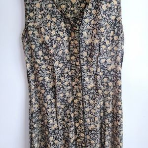 All that Jazz Dresses - Vintage 90s Grunge Floral Button-Down Midi Dress
